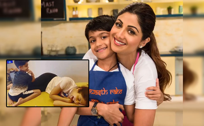 Shilpa Shetty's son strikes barter deal: Two-layer cake for body massage