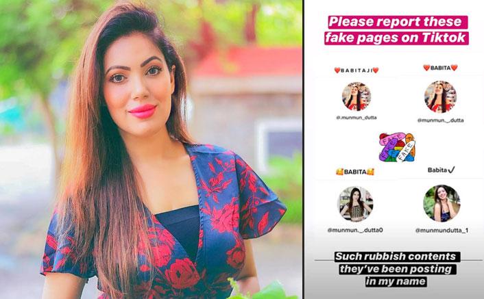 Taarak Mehta Ka Ooltah Chashmah Star Munmum Dutta AKA Babita Ji Tells Her Fans To Not Follow Her 'Filthy & Fake' TikTok Accounts