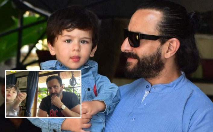 Taimur Ali Khan STEALS The Limelight Of Daddy Saif Ali Khan's Interview Yet Again, Watch Video