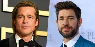 The Office's John Krasinski & Brad Pitt Unite For A HILARIOUS Gig Amid Lockdown, WATCH