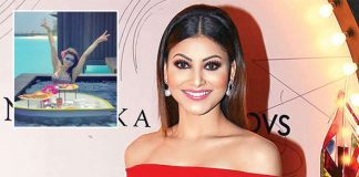 Urvashi Rautela's bikini breakfast in the pool