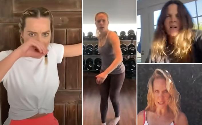 #BossBitchFightChallenge: Scarlett Johansson AKA Black Widow To Margot Robbie AKA Harley Quinn - Hollywood Beauties Showcase Their Action Moves!