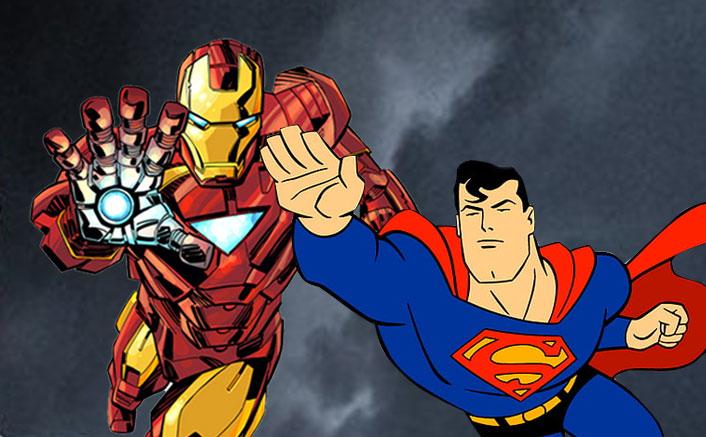 DC's Superman Tears Down Marvel's Iron Man AKA Robert Downey Jr In This INCREDIBLE Fan Art