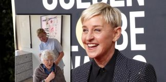 Ellen DeGeneres cuts mom's hair for 90th birthday