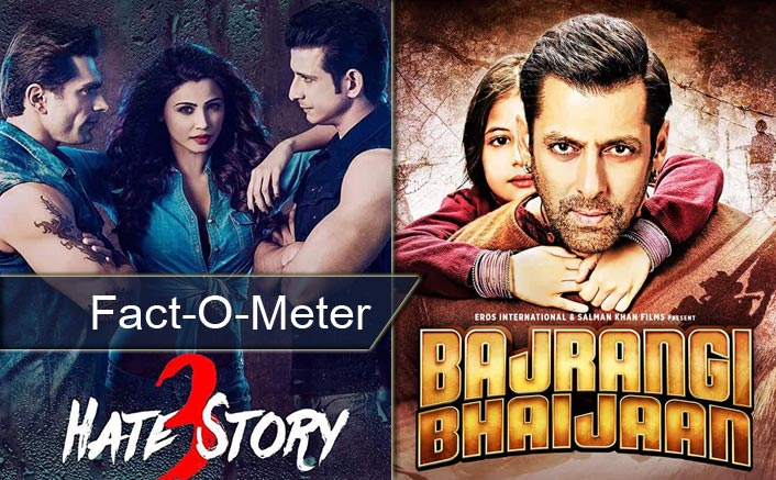Fact-O-Meter: Did You Know? Hate Story 3 Is Ahead Of Salman Khan's Bajrangi Bhaijaan In 2015's Box Office Record Books