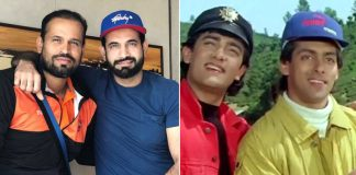 Irfan Pathan And Yusuf Recreates Popular Scene From Andaz Apna Apna