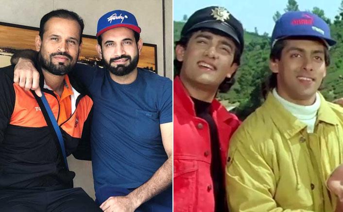 Irfan Pathan & Yusuf Pathan Recreate A Popular Scene From Andaz Apna Apna & It Will Make You Go ROFL