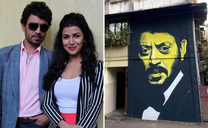 Fans Celebrate Late Irrfan Khan Through A Wall Artwork, Nimrit Kaur Gets Emotional After Spotting It
