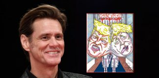 Jim Carrey Takes A Dig At Donald Trump & Boris Johnson Taunting Them For COVID-19 Deaths Through His The Shining Artwork