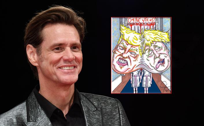 Jim Carrey Takes A Dig At Donald Trump & Boris Johnson Taunting Them For COVID-19 Deaths Through His The Shining Artwork