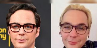 Jim Parsons goes blonde for husband