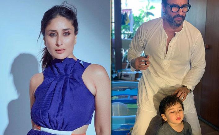Saif Ali Khan Turns Hairstylist For Son Taimur Amid Lockdown, Kareena Kapoor Khan Shares A Cute Picture