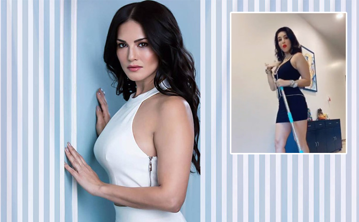 Sunny Leone Is 'Forced To Mop' The Floor During Lockdown, But Keeps The Style Game On Point
