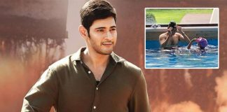 Mahesh Babu & Daughter Sitara Chill In Swimming Pool To Beat Summer Heat