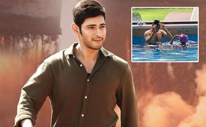 Mahesh Babu & Daughter Sitara Chill In Swimming Pool To Beat Summer Heat