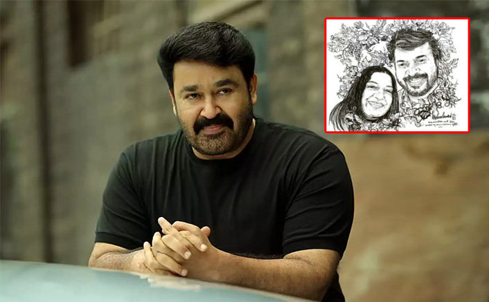 Mohanlal Wishes Mammootty & Wife On Their Wedding Anniversary By Posting A Sweet Sketch Of The Couple