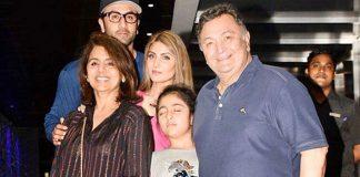 Neetu posts 'complete' family pic with Rishi Kapoor, Ranbir, Riddhima