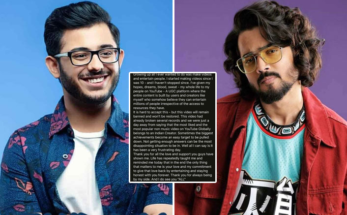 Post YouTube Drama, CarryMinati Shares An Emotional Note For Fans; Bhuvan Bam Reacts