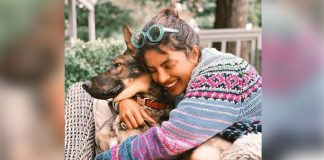 Priyanka's pet dog loves her cuddles