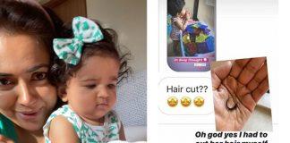 Sameera gives daughter Nyra a 'rowdy' haircut