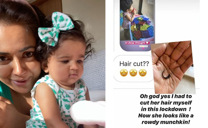 Sameera Reddy Gives A 'Rowdy' Haircut To Her Tiny-Tot & She Looks Adorable