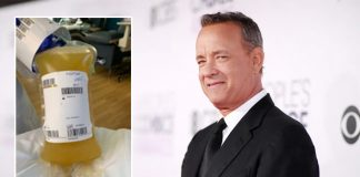 Tom Hanks shares pic of his donated plasma