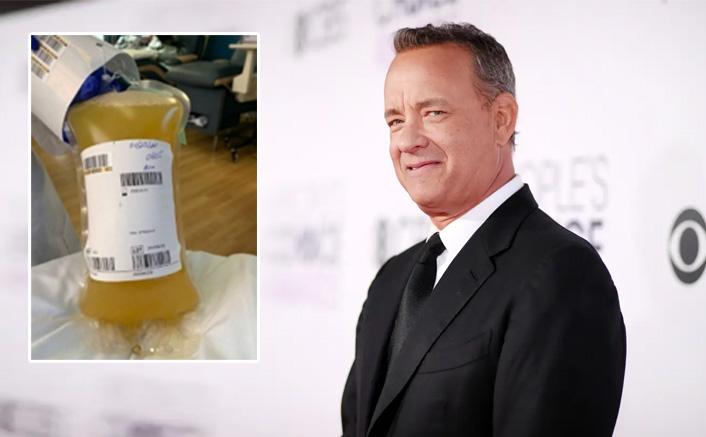 Tom Hanks shares pic of his donated plasma