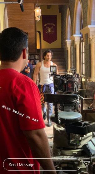 Varun Dhawan's misses being on set