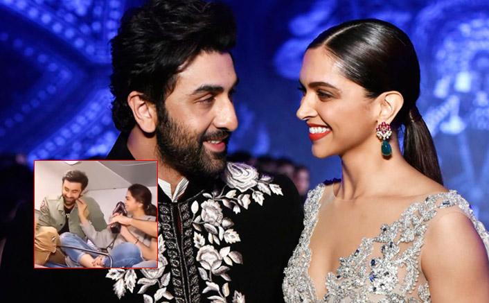 When Ranbir Kapoor Blushed As Former Flame Deepika Padukone Pulled His Cheeks, WATCH