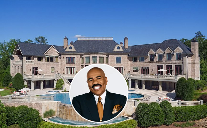 WOAH! Comedian Steve Harvey Buys Tyler Perry's Seven Bedroom Mansion & Its Cost Will Amaze You