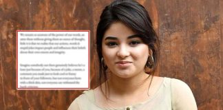 """Zaira Wasim REACTS To Social Media Trolls, Says """"Your Words Could Be A Reason For Someone's Heart To Shatter"""""""