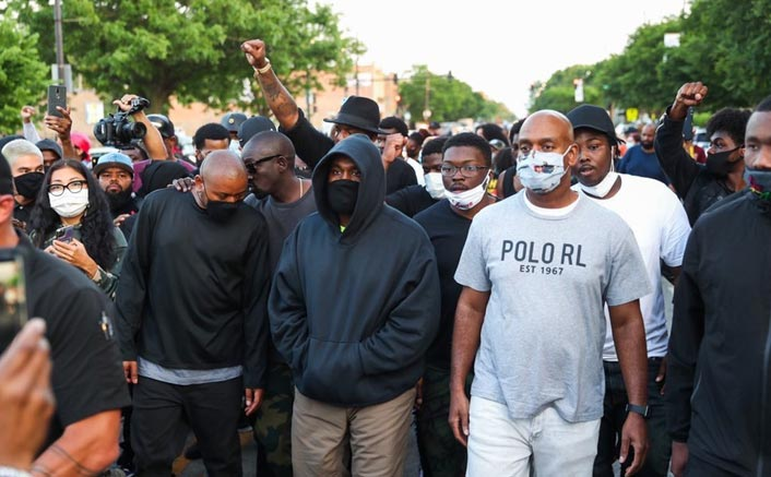#BlackLivesMatter: Rapper Kanye West Joins Protesters At His Home Town Chicago Backing Justice For George Floyd