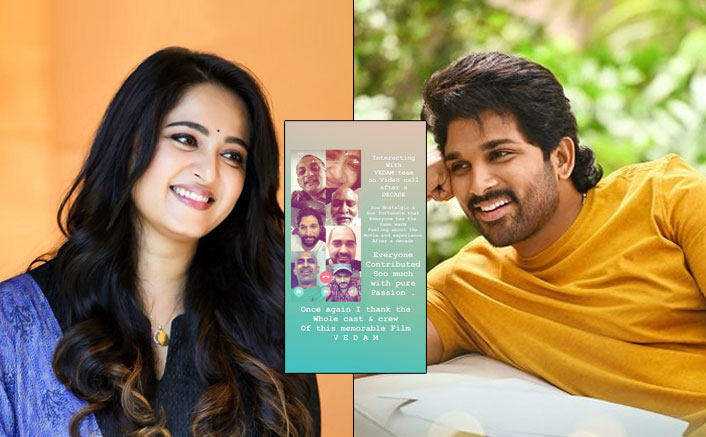 #DecadeOfVedam: Allu Arjun, Anushka Shetty & Makers Bond Over A Video Call As The Film Clocks 10 Years