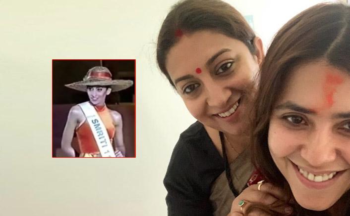 Ekta Kapoor Shares A Major Throwback Of Smriti Irani From Her 'Miss India' Days!