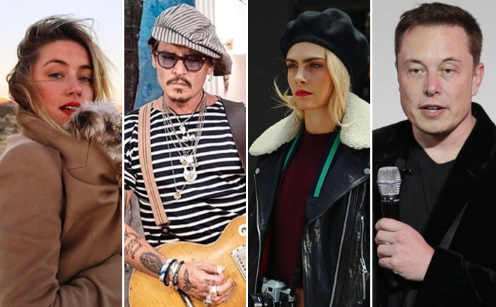 Johnny Depp Case: Amber Heard Accused Of Threesome Affair With Elon Musk & Cara Delevingne(Pic Credit: Amber Heard/Instagram Johnny Depp/Instagram Cara Delevingne/Instagram Tamindir/Facebook)