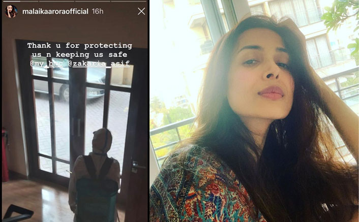 Malaika shares glimpse of her building being sanitised(Pic Credit: malaikaaroraofficial/Instagram)