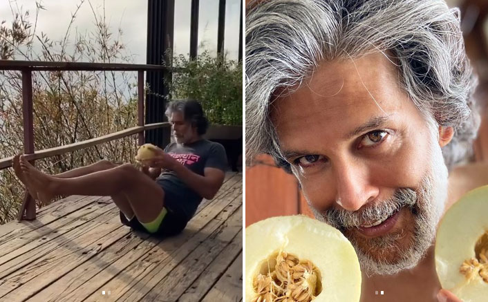 Milind Soman Uses Muskmelon As A Weight To Workout, What's Your Excuse?
