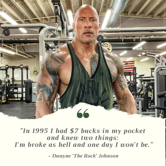 #MondayMotivation: Dwayne Johnson Had Just $5 In 1995 & Now He's The HIGHEST Paid Actor In Hollywood