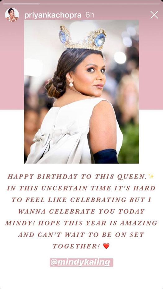 Priyanka Chopra Wish Mindy Kaling On Her Birthday, Calls Her QUEEN