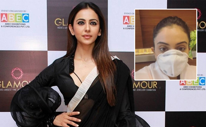 Rakul Preet Singh travels to Delhi fully covered up