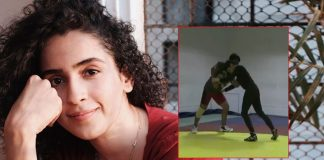 Sanya Malhotra posts 'zor se throwback' from 'Dangal' practice