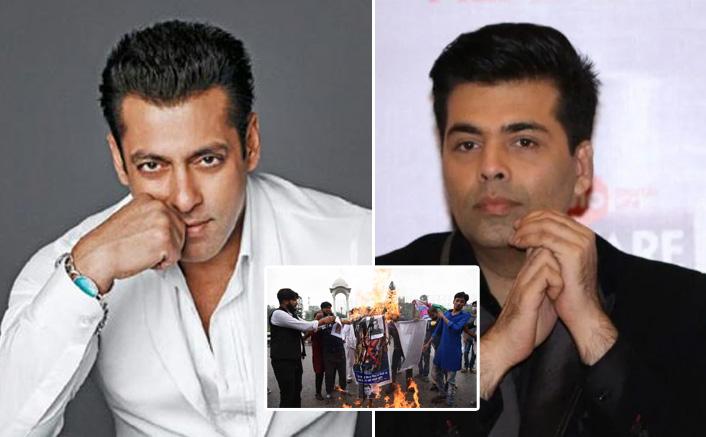 Student leaders burn Salman Khan, Karan Johar effigies in Bihar
