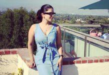 Sunny Leone soaks in the California sun