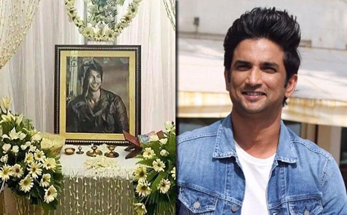 Sushant Singh Rajput's Prayer Meet: A Smiling Portrait Makes Everyone Cry!