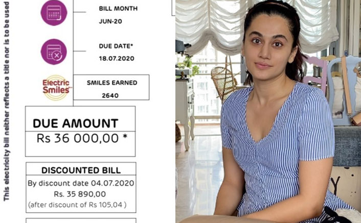 Taapsee Pannu Gets A Reply From Power Provider After She Complains For High Electricity Bill
