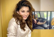 Urvashi Rautela works out with 80-kilo weights