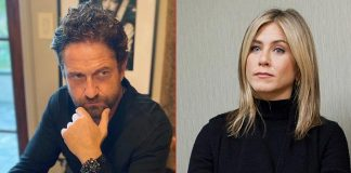When Jennifer Aniston Talked To Gerard Butler's Mom While They Were Getting 'Married'