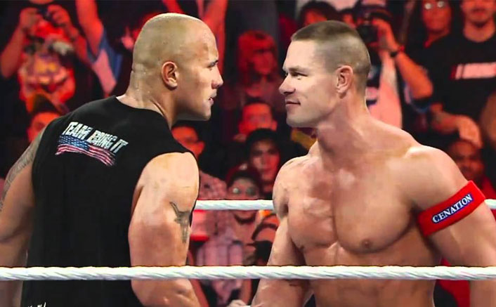 """WWE: John Cena Opens Up On Feud With The Rock: """"It Was Stupid of Me, It Genuinely Was""""(Pic credit: Still From Raw: John Cena calls out The Rock and issues a WrestleMania)"""