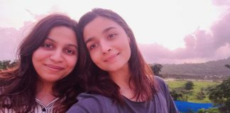 Alia and Shaheen are 'two sweet peas' enjoying a pink sunset