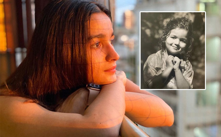 Alia Bhatt Inspires Fans To 'Spread Some Love' By Sharing A Monochrome Version Of Childhood Pic